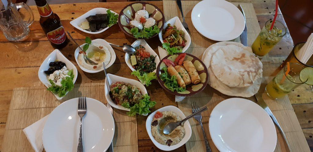 Zur Abwechslung gab es libanesisches Abendessen