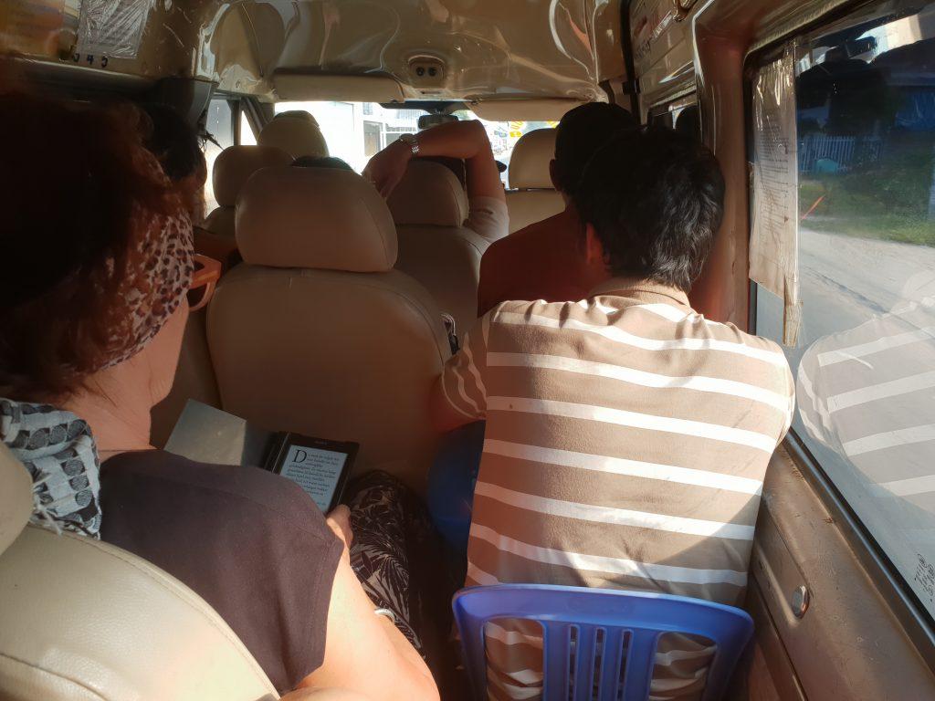 Im Bus von Ha Tien nach Can Tho im Mekong-Delta