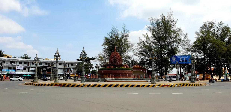 Durian-Roundabout, das Wahrzeichen Kampots