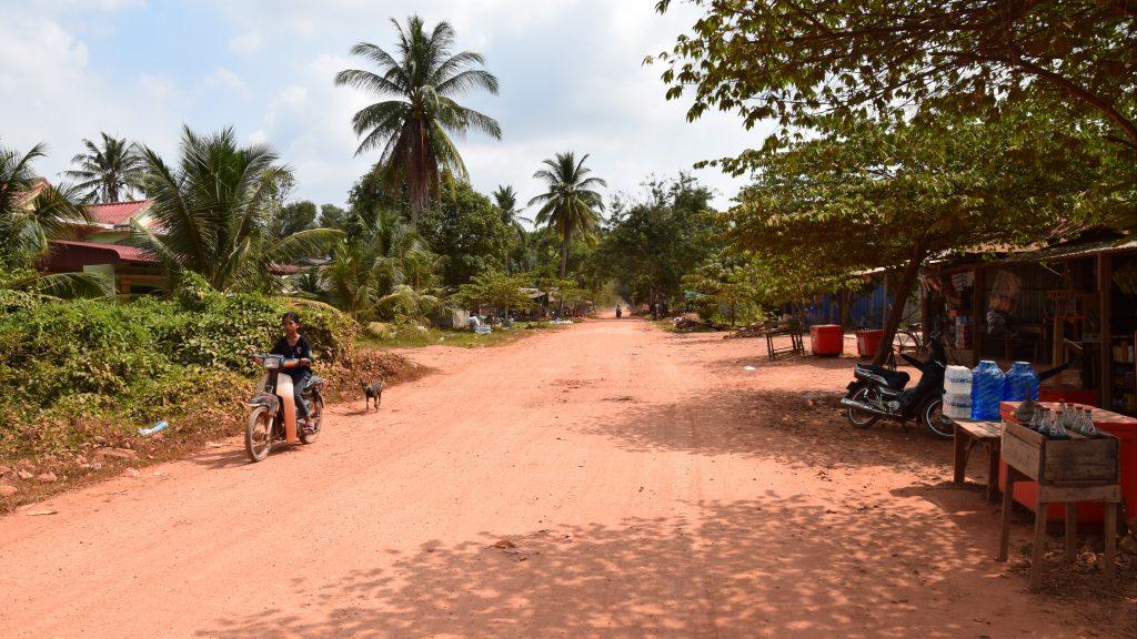 Auf dem Weg zu La Plantation in Kampot