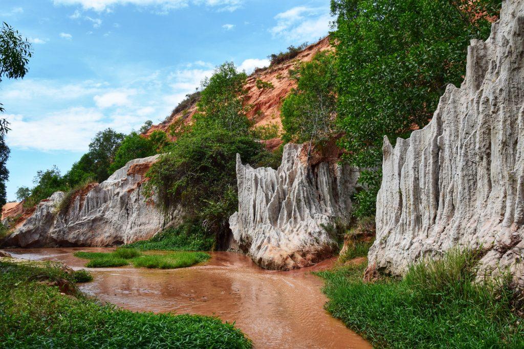 Atemberaubende Natur beim Fairy Stream in Mui Ne